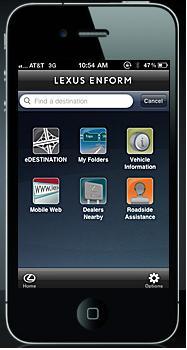 Enform app from Toyota Motors