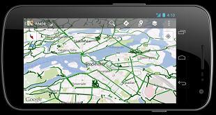 Google biking navigation app