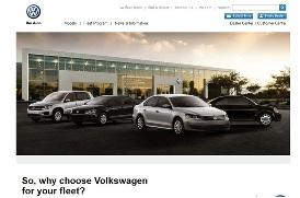 Volkswagen corporate fleet website - screenshot