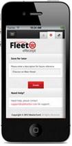Mobile Fleet e-Receipt app