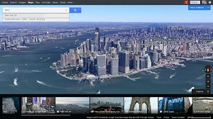 Earth view with live 3D