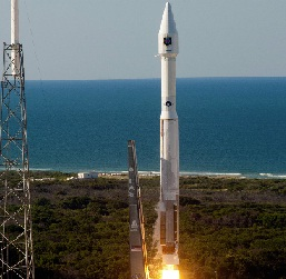 U.S. Air Force GPS 2F satellite launching on a United Launch Alliance (ULA) Atlas 5 rocket