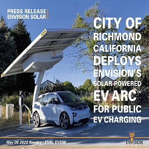Photo of Richmond, California deploys solar-powered electric vehicle charging