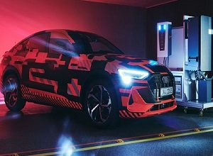 Photo of Audi in collaboration with Hager researching bidirectional charging technology