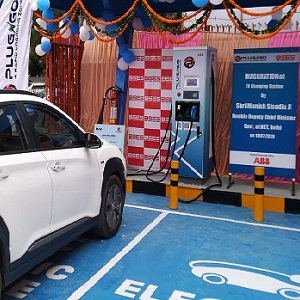 ABB India's first public DC fast charger for New Delhi with BYPL and EV Motors India unveiled
