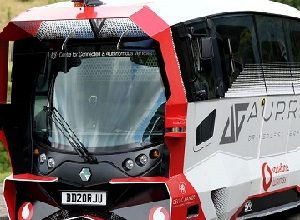 Photo of Vodafone demonstrates its 4G network for autonomous shuttle