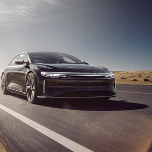 Lucid Air sets a new standard for electric vehicles with an estimated EPA range of 517 miles on a single charge