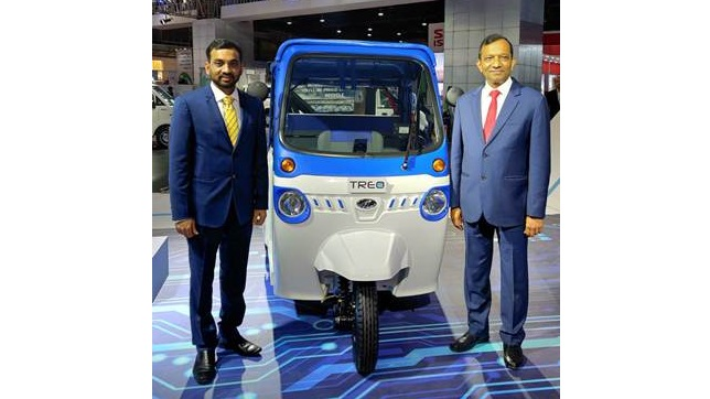 Mahindra launches new electric three-wheeler Treo in Telangana