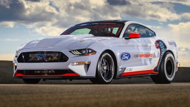Photo of All-Electric Mustang Cobra Jet 1400 prototype exceeds testing target, makes public debut at NHRA U.S. nationals
