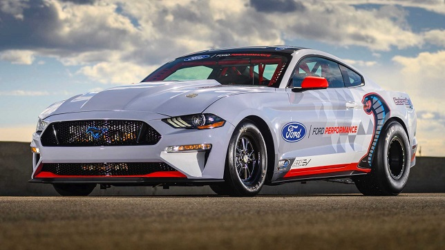 All-Electric Mustang Cobra Jet 1400 prototype exceeds testing target, makes public debut at NHRA U.S. nationals