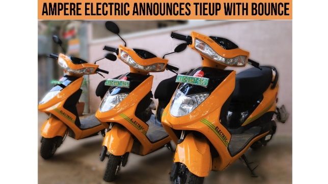 Ampere Electric and Bounce, partner to accelerate shared mobility on electric scooters