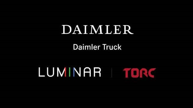 Daimler Trucks and Torc partner with Luminar to enable automated trucking