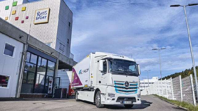 Ritter Sport uses all-electric Mercedes-Benz eActros for production supply