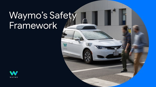 Waymo: Sharing safety framework for fully autonomous operations
