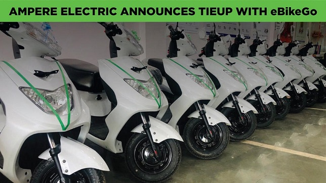 India: Ampere Electric partners with EV mobility start-up eBikeGO