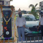 MG Motor and Tata Power inaugurate EV Charging Station in Nagpur