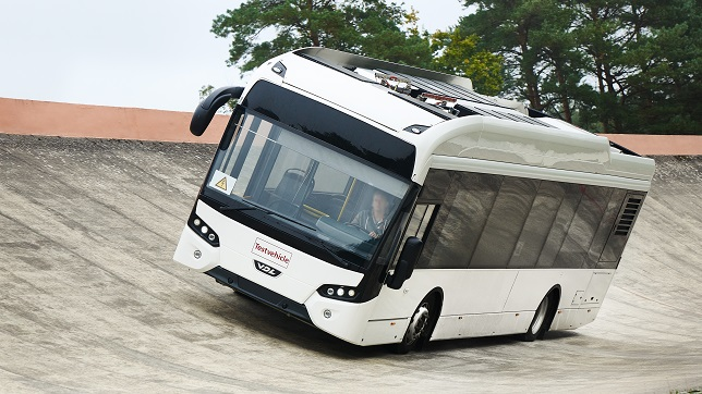 Prototype tires for electric buses tested at the contidrom