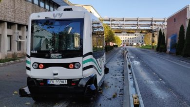 Photo of EasyMile in first fully autonomous Level 4 driving operation in Northern Europe