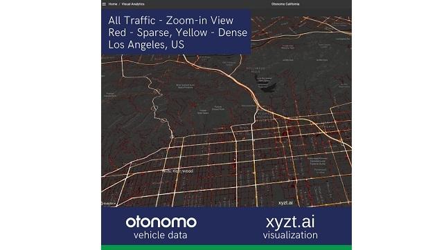 xyzt.ai analytics platform leverages Otonomo's connected vehicle data boosting traffic management visualization capabilities