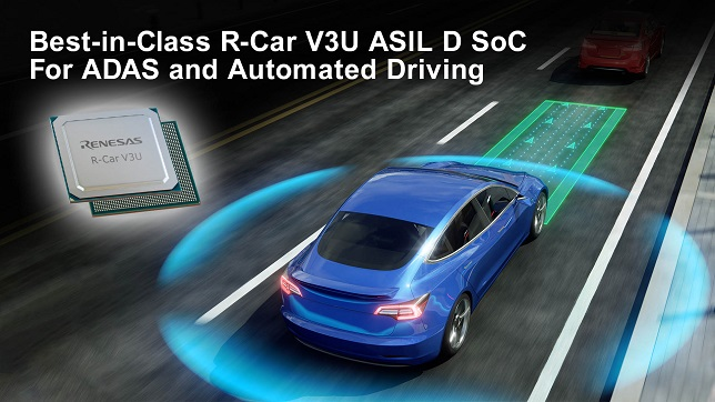Renesas accelerates ADAS and automated driving development with Best-in-Class R-Car V3U ASIL D system on chip