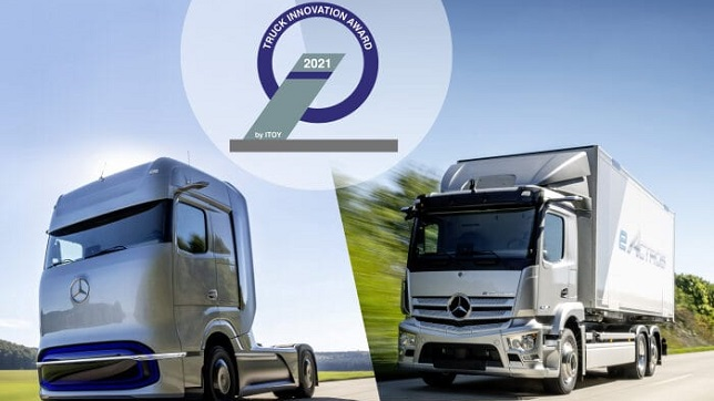 The most innovative trucks for the electric future: Mercedes-Benz eActros and Mercedes-Benz GenH2 Truck win 2021 Truck Innovation Award