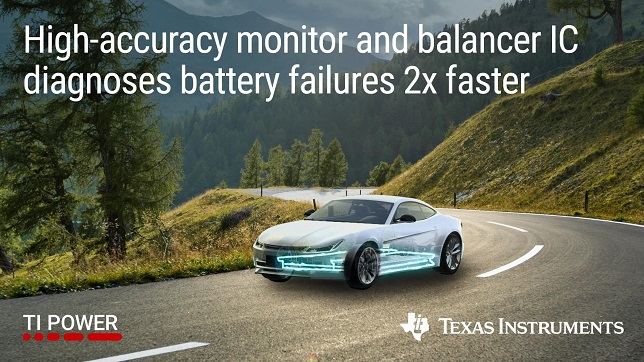 Texas Instruments (TI) introduced automotive battery monitor and balancer