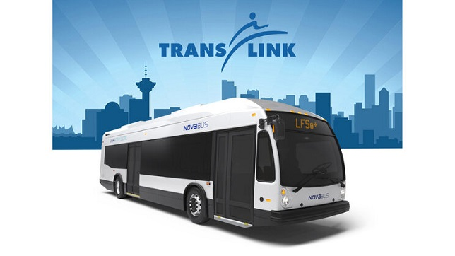 Translink selects Nova Bus for 15 electric buses LFSE+ - further expanding low emission mobility in Vancouver