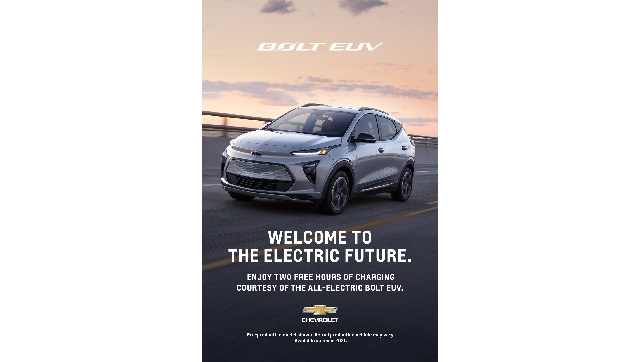 Chevrolet launches 2022 Bolt EUV with a nationwide network takeover on Volta Charging Stations