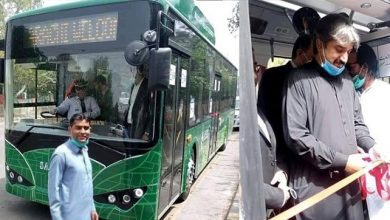 Sindh govt launched their electric bus project