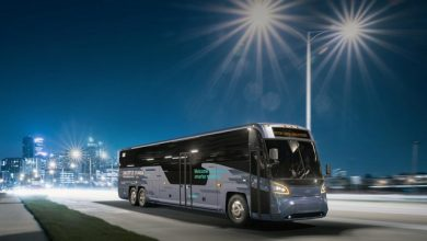 MCI launches new D series and unveils battery-electric commuter coach: the D45 CRT LE CHARGE™