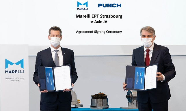 Marelli and Punch Motive's new JV to co-develop and manufacture e-axles for EVs