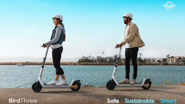 Bird unveils the Bird Three, the eco-conscious shared electric scooter