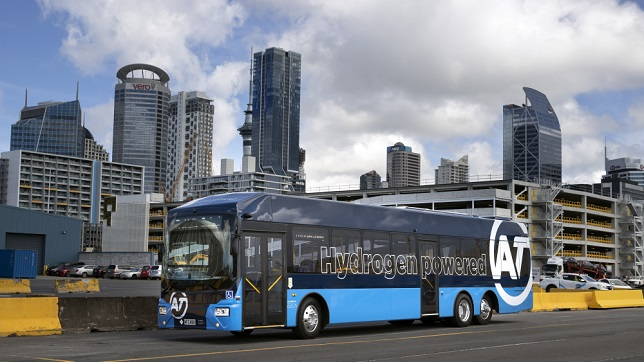 New Zealand's first hydrogen fuel cell bus unveiled