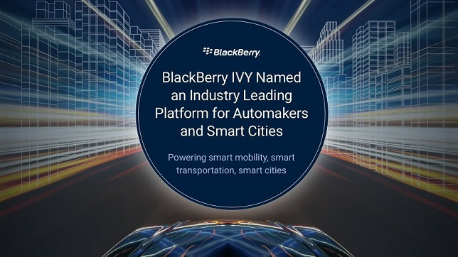 Frost & Sullivan names BlackBerry IVY an industry leading edge-to-cloud software platform for automakers & smart cities