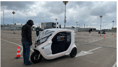 Testing interactions between self-driving vehicles and pedestrians in central Gothenburg