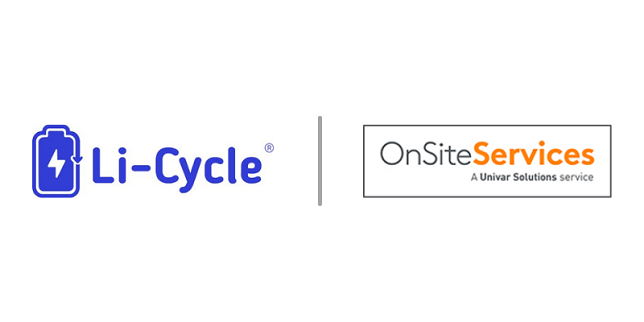Li-Cycle announces partnership with Univar Solutions OnSite Services to provide comprehensive lithium-ion battery environmental services and solutions
