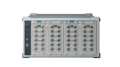 Supporting 6 GHz frequency band measurements for wireless communication device production lines