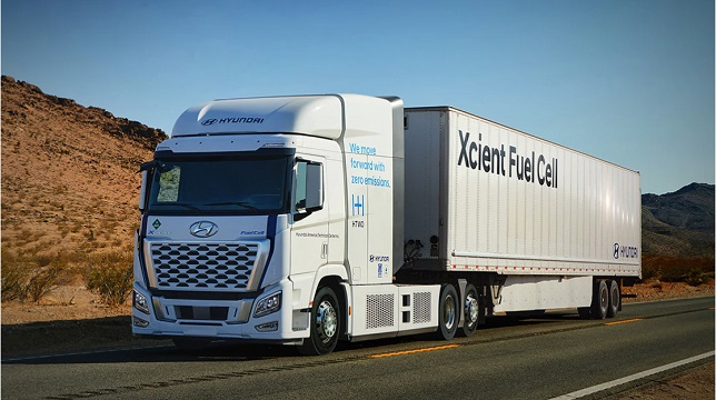 Hyundai's XCIENT fuel cell hitting the road in California