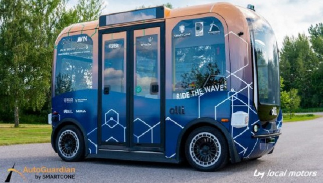 Local Motors and AutoGuardian by SmartCone announce a strategic partnership to expand deployment and safe operations of the autonomous vehicle, Olli