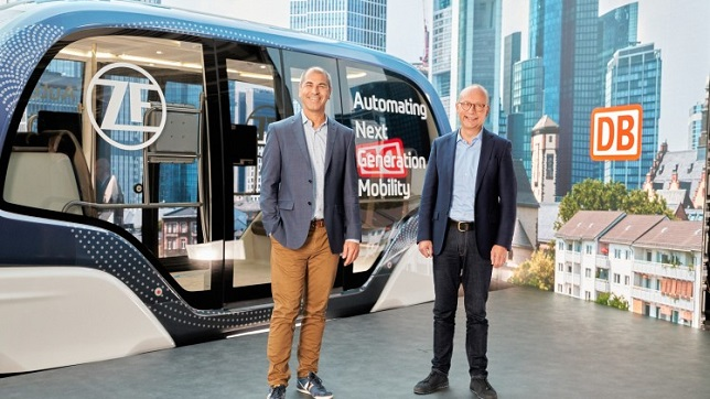 ZF and DB Regio agree on strategic partnership for autonomous transport systems