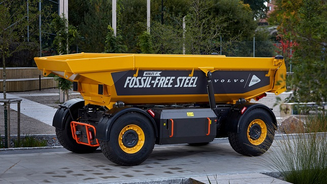 Volvo Group launches vehicle using fossil-free steel