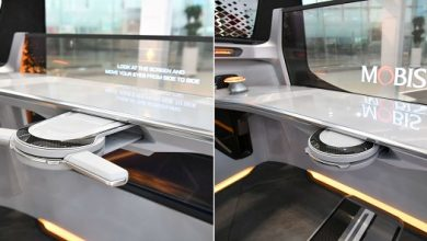 Hyundai Mobis developed a foldable steering system